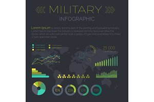 Word Infographic Flat Design Vector