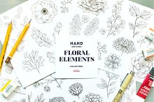 hand drawn floral