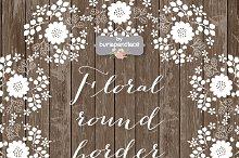 Vector Floral round border