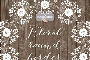 Vector Floral round border