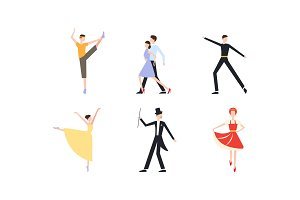 Professional dancers dancing