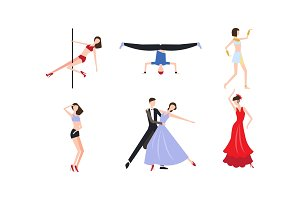 Collection of professional dancers