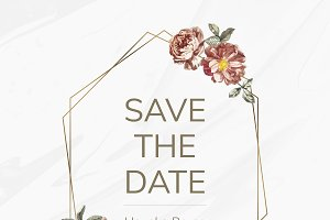 Save the date card mockup
