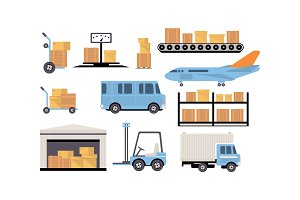 Merchandise warehouse and logistic