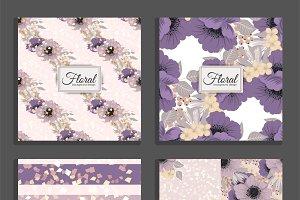 Set of floral pattern