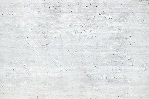 White Concrete Wall Wooden Pattern