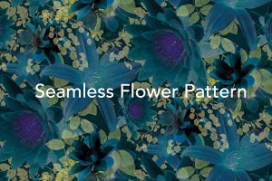 Seamless Tileable Floral Pattern