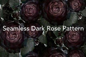 Dark Rose Tileable Pattern
