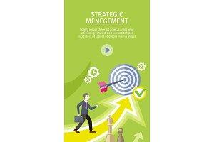 Strategic Management Concept Vector