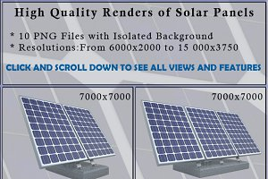 Solar Panels 10 Isolated Images