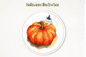 Watercolor Illustration halloween