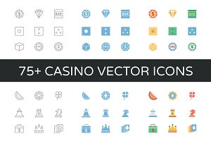 75+ Casino Vector Icons