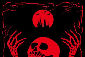Happpy Halloween skull background