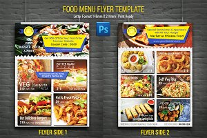 Food Menu Card Flyer Template