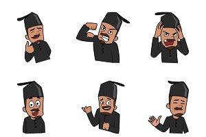 Angry Muslim Man Illustration