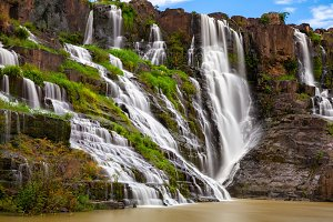 The Pongour waterfall, Da Lat, Vietn