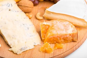 Variety of different cheese with
