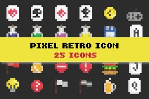 Pixel Retro Games Icon