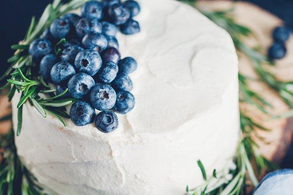 Food Stock Photos: Edalin's Store - Cream white cake with berries
