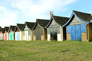 Old Beach Hut England UK
