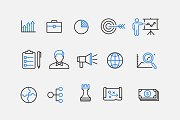 15 Business Strategy Icons