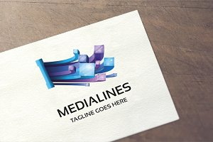 Media Lines Logo