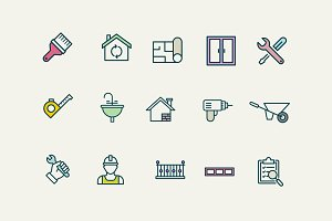 15 House Renovation Icons