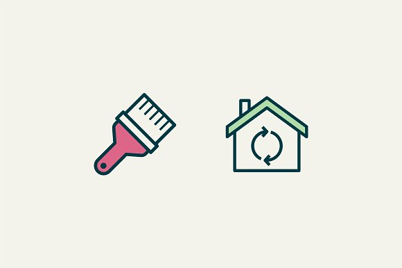 15 House Renovation Icons in Graphics - product preview 1