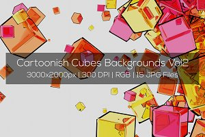 Cartoonish Cubes Backgrounds Vol2