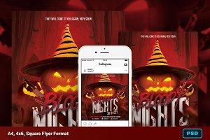 Bloody Nights Halloween Flyer