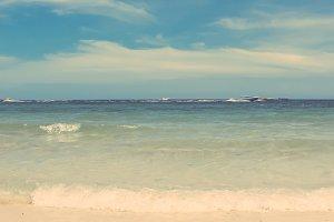 retro syle of summer beach sea view