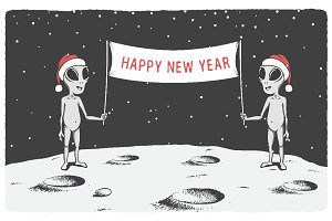 happy new year with aliens