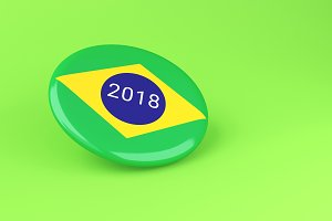 3d Pin Elections 2018. Brazil voting