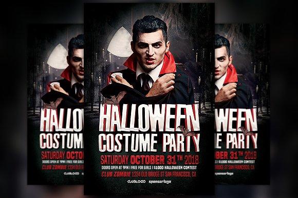 halloween costume party vol 2 flyer flyer templates creative market