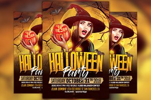 Halloween Party Vol 2 Flyer Template
