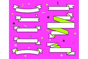 Set of trendy flat geometric vector