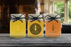 Royal Honey Logo Design and Patterns
