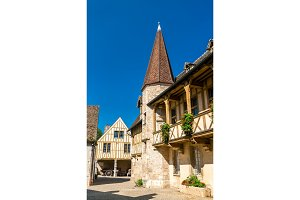 Traditional french houses in Beaune
