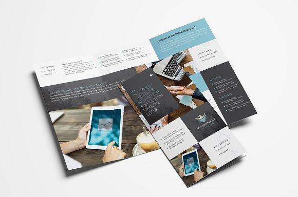 financial trifold brochure template flyer templates creative market