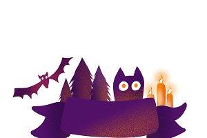 Banner Halloween isolated