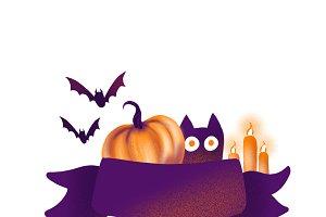 Banner Halloween PNG+Jpeg