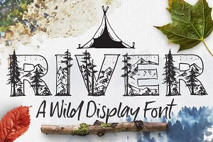 Wild River Rustic Display Font