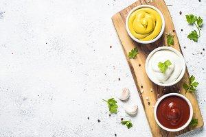 Sauce set  - mayonnaise, mustar