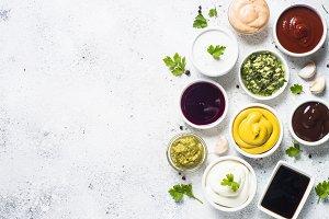 Sauce set assortment - mayonnaise