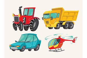 Baby bright сartoon vehicles