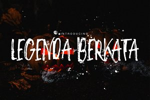 Legenda Berkata Rough Font