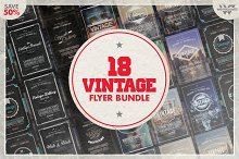 18 VINTAGE RETRO Flyer Bundle