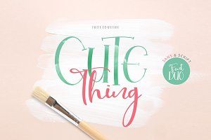 Cute Thing Font Duo