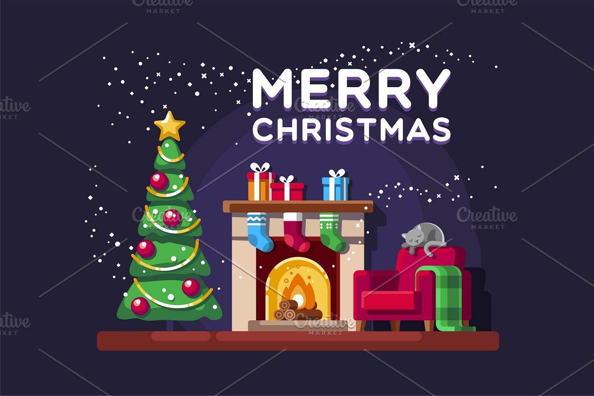 Christmas Card Illustrations Creative Market