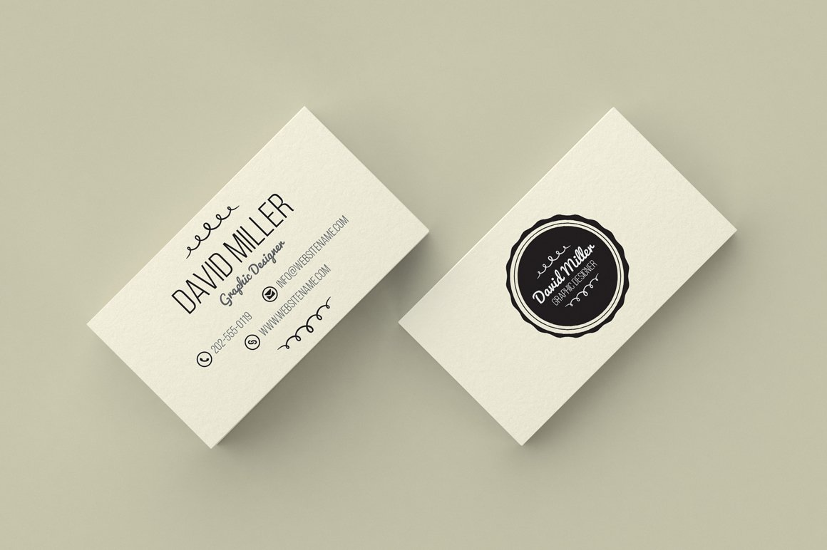 vintage minimal business card business card templates creative market - Minimal Business Card